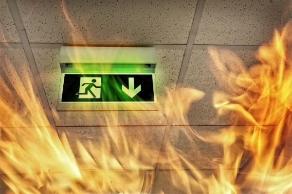 Brand im Treppenhaus