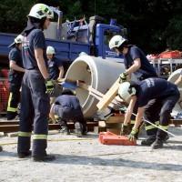 Training der Freiwilligen Feuerwehren und THW im KiEZ Güntersberge