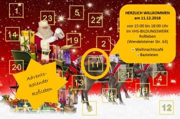 Weihnachtscafé für Roßlebener Adventskalender