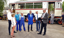 Historischer Waggon für die Freunde der Straßenbahn