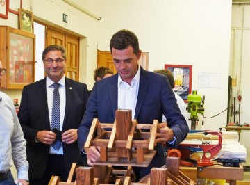 Mike Mohring (CDU) besucht unsere Werkstätten in Roßleben