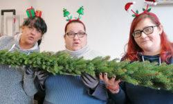 Weihnachtsgirlande für Nordhauser Rathausplatz