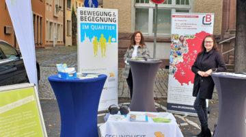 """Zusammen mit """"Bewegung & Bewegung im Quartier"""" auf dem Wochenmarkt von Artert"""